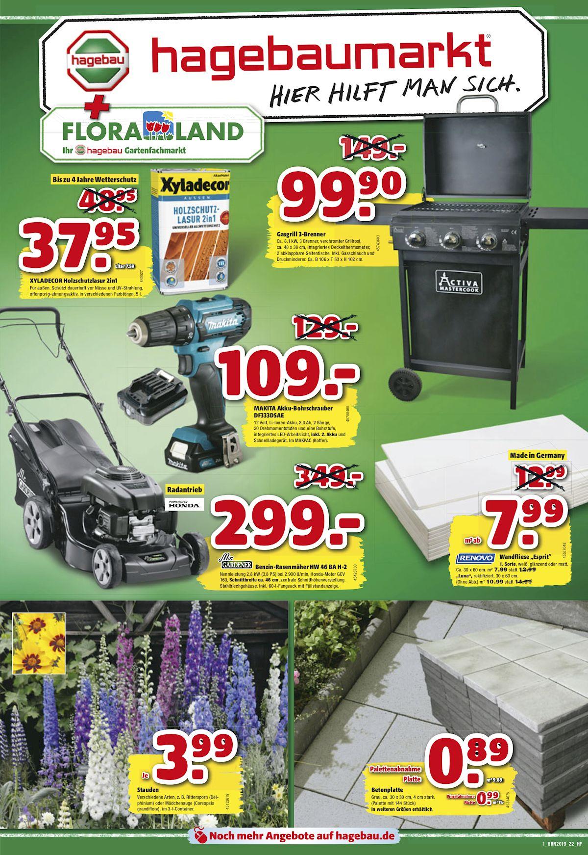 Unsere aktuelle Werbung hagebaumarkt Lübeck