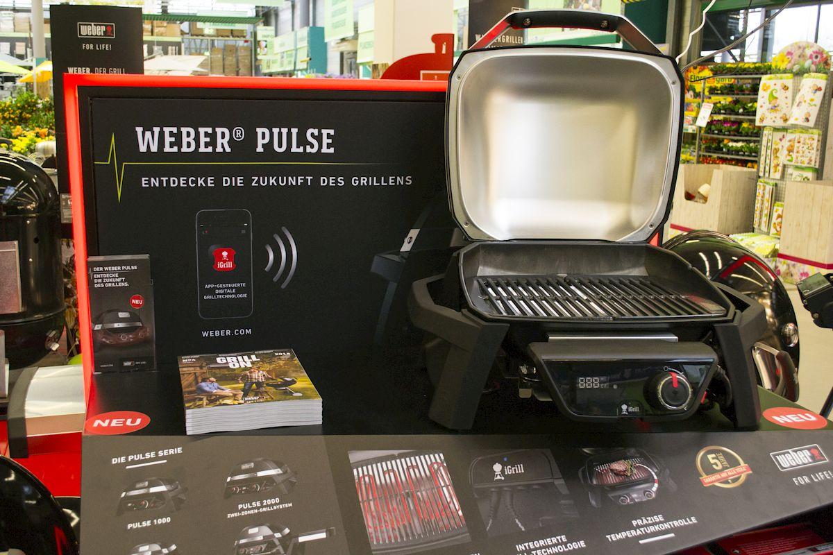 Weber Elektrogrill Hagebaumarkt : Neu & exklusiv: weber grill pulse und grill seminare für 2018